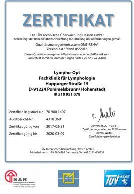 Zertifikat TÜV Hessen